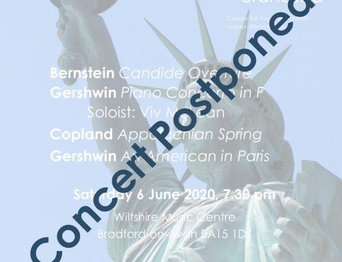 June 2020 concert postponed