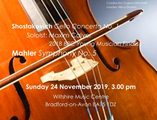 SOLD OUT – Concert 24th November 3.00pm