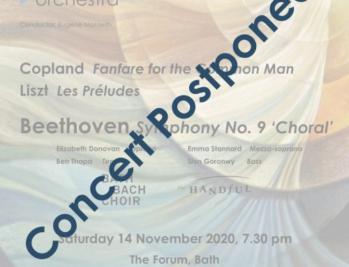 November 2020 concert postponed